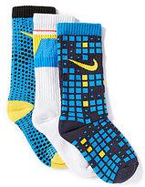 Nike Little Boys Graphic Crew Socks 3-Pack