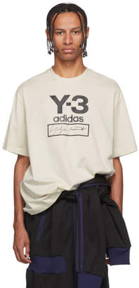 Y-3 Y 3 Off-White Stacked Logo T-Shirt