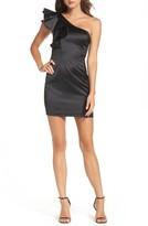 Bardot Women's Estella Frill One-Shoulder Minidress