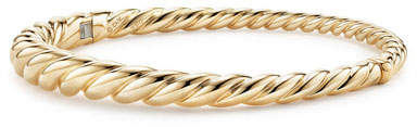 David Yurman 6mm Pure Form 18K Cable Bracelet, Size S