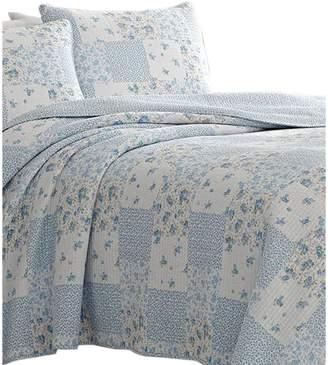 Laura Ashley Kenna Cotton 3-Piece Floral Quilt Set