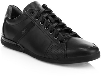 HUGO BOSS Saturn Leather Low-Top Sneakers