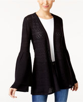 Style&Co. Style & Co Pointelle Bell-Sleeve Cardigan, Created for Macy's