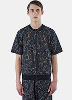 Marius Petrus Men's Zip-up Short Sleeved Jacket In Black