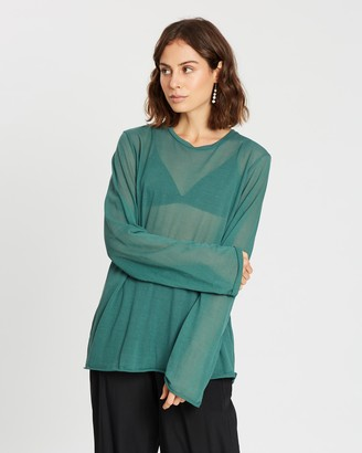 MATIN Fine Knit LS T-Shirt