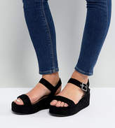Asos Toucan Wide Fit Wedge Sandals