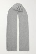 Thumbnail for your product : Brunello Cucinelli Sequin-embellished Metallic Ribbed-knit Scarf - Gray