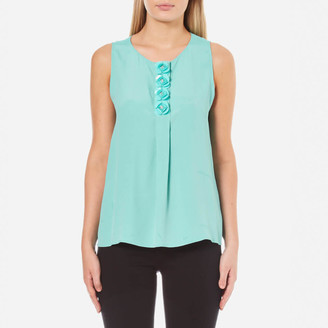 Boutique Moschino Women's Flower Detail Sleeveless Blouse