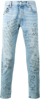 Gucci punk printed jeans - men - Cotton/Brass - 30