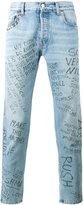 Gucci punk printed jeans