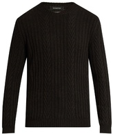 Ermenegildo Zegna Ribbed And Chevron-knit Cashmere Sweater