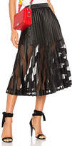 Off-White Plisse Skirt in Black. - size 38/4 (also in 40/6)
