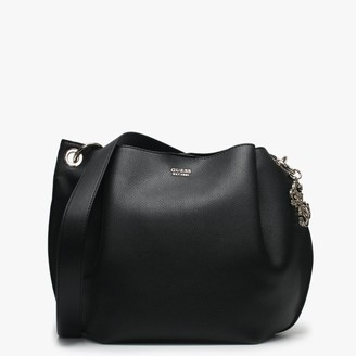 GUESS Digi Black Pebbled Hobo Bag