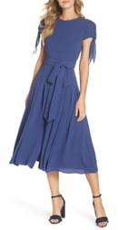 Gal Meets Glam Bette Pleated Midi Dress
