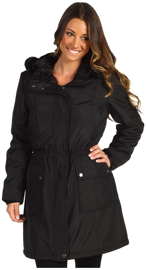 Marc New York Lenox Faux Fur Lined Jacket (Black) - Apparel