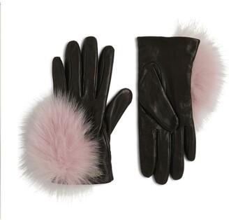 Canadian Hat Mink Leather Gloves