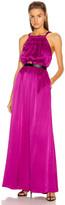 Raquel Allegra Keyhole Dress in Dahlia | FWRD