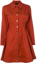 Jean Paul Gaultier Pre Owned denim flared shirt dress