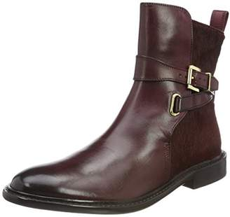 Melvin & Hamilton Women's Sally 64 Chelsea Boots, Brown (Burgundy Crust/Hairon/Burgundy/Burgundy + Strap Burgundy/HRS New Sole Thick)