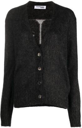 Courreges V-neck knitted logo cardigan