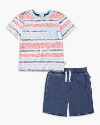 Splendid Little Boy Striped Pocket Tee Set