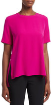ADAM by Adam Lippes Short-Sleeve Crepe T-Shirt, Fuchsia