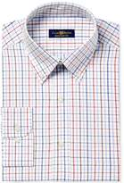Club Room Men's Big and Tall Regular Fit Triple Tattersall Dress Shirt, Created for Macy's