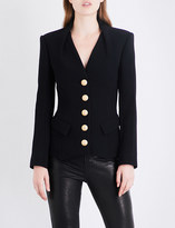 Balmain Single-breasted wool and silk-blend blazer