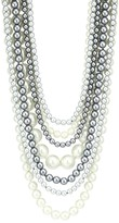 Kenneth Jay Lane Silvertone & Two-Tone Glass Pearl 7-Strand Necklace