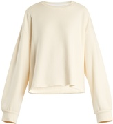 Raey Raw-hem cotton-jersey sweatshirt