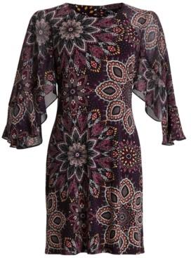 Connected Flutter-Sleeve Dress
