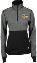 adidas Women's Houston Dynamo Quarter-Zip Climalite Jacket