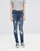 Cheap Monday Second Skin Carbon Torn Jeans
