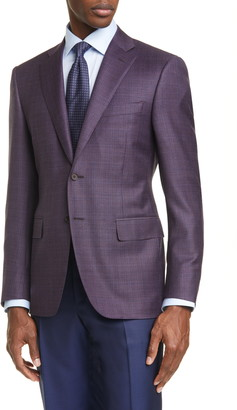 Canali Classic Fit Slub Wool Sport Coat