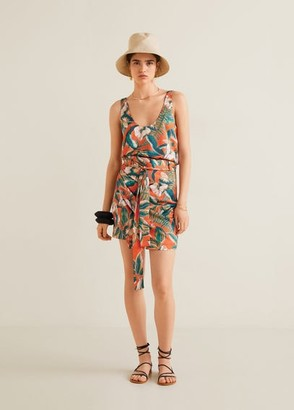 MANGO Tropical print top red - XS - Women