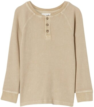 Cotton On Nate Long Sleeve Henley Shirt