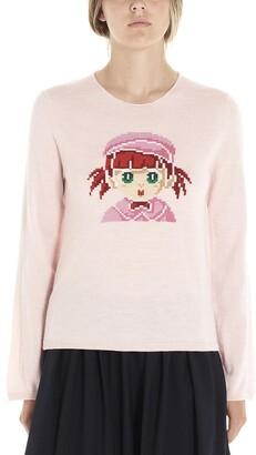 COMME DES GARÇONS GIRL Girl Intarsia Sweatshirt