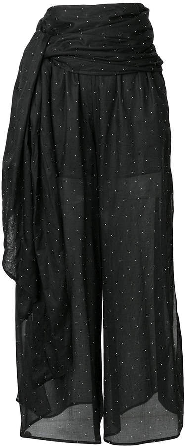 Alexandre Vauthier transparent dotted flared trousers