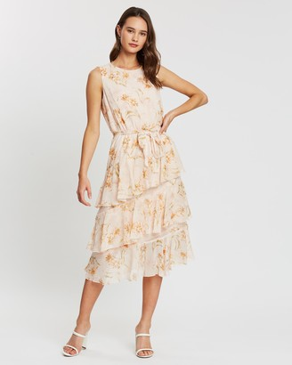 Atmos & Here Louise Ruffle Midi Dress