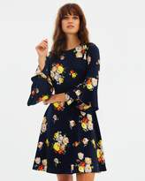 Warehouse Victoria Floral Babydoll Dress