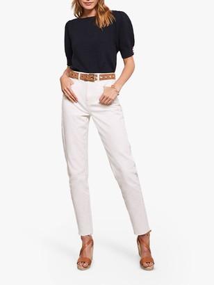 Mint Velvet DallasTapered Jeans, White