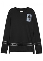 Helmut Lang Black Printed Jersey Top