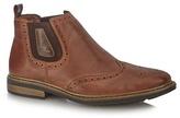 Rieker Dark Brown Brogue Chelsea Boots