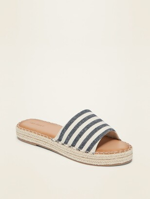 Old Navy Striped Espadrille Slide Sandals for Women