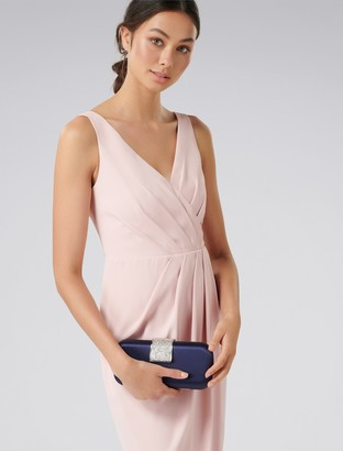 Forever New Dannie Box Clutch - Navy Satin - 00