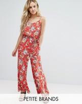 Yumi Petite Jumpsuit In Floral Print