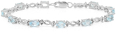 Ice 6 7/8 CT TW Topaz and Diamond Sterling Silver Bracelet