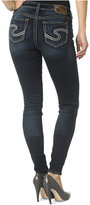 SILVER JEANS CO. Silver Jeans Suki Mid-Rise Super Skinny Jeans, Indigo Wash