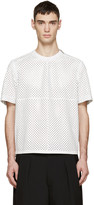 Givenchy White Perforated Leather T-Shirt