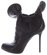 Sergio Rossi Leather Embellished Ankle Boots